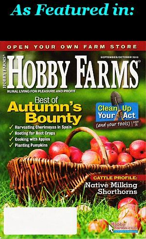 featured in Hobby Farms magazine